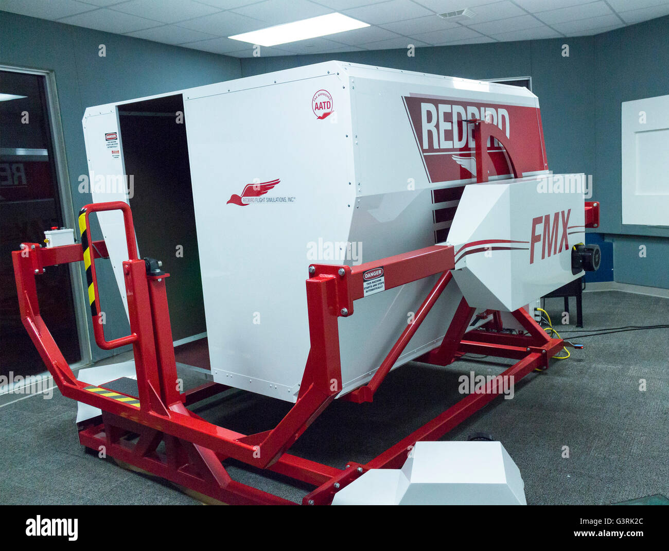 Redbird Flight Siumlator at the Canadian Aviation and Space Museum in Ottawa, Ontario, Canada - Stock Image