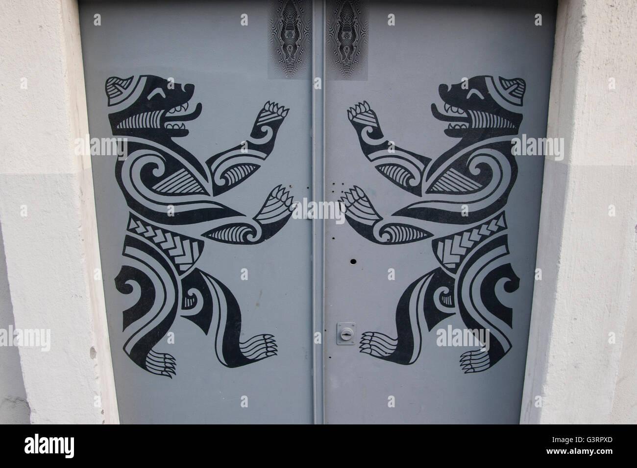 Door Tattoo Studio Berlin Germany Stock Photo   Alamy