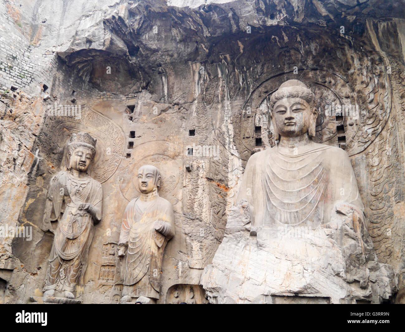 Longmen Grottoes in Luoyang, Henan Province, China. - Stock Image