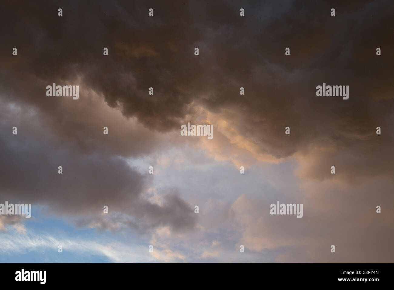 dramatic cloud clouds formation formations sky uk - Stock Image