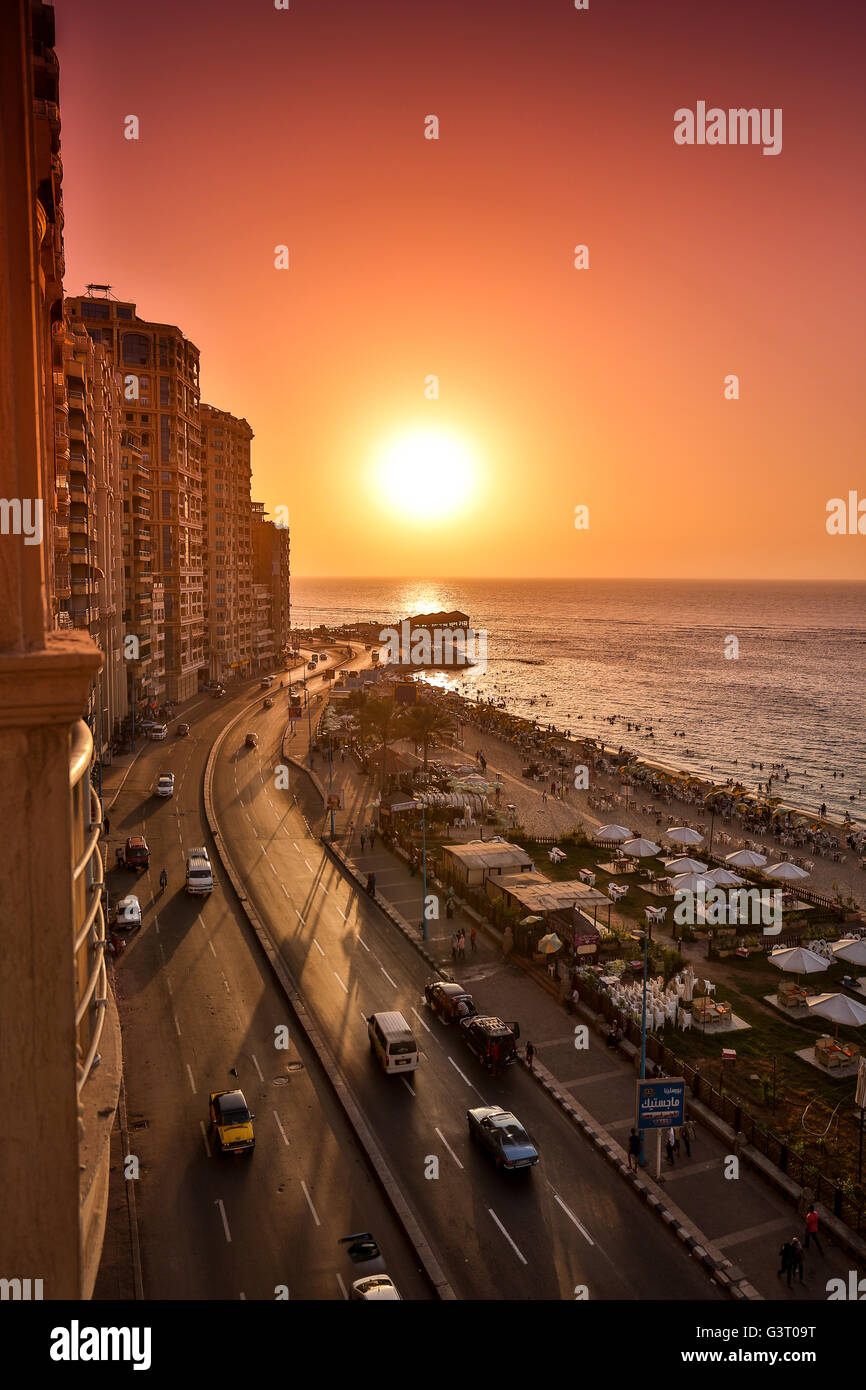 The beautiful city of Alexandria, Egypt - Stock Image
