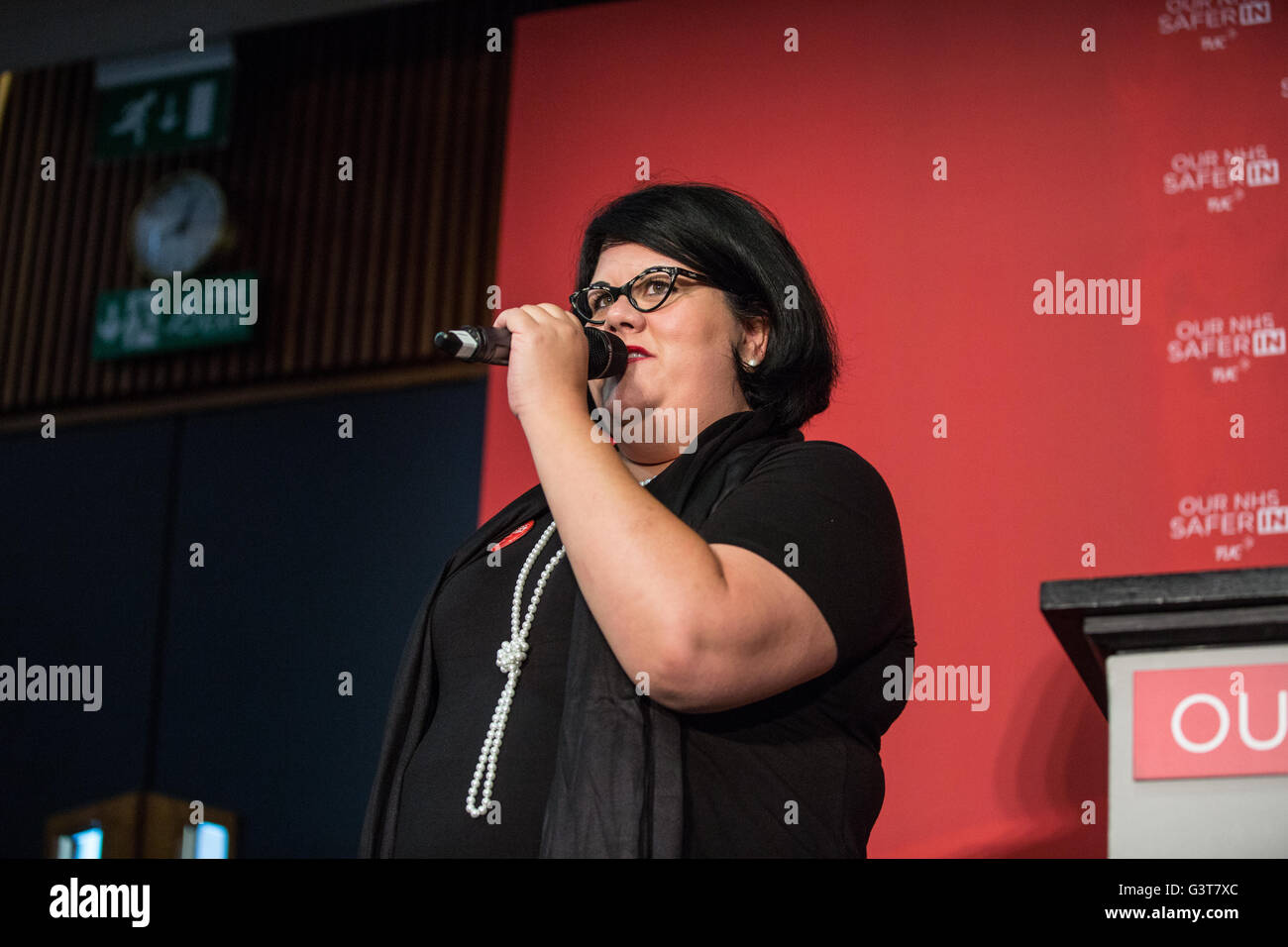 London, UK. 14th June, 2016. Amy Lamé, an American-born performer, writer, TV and radio presenter, presented - Stock Image