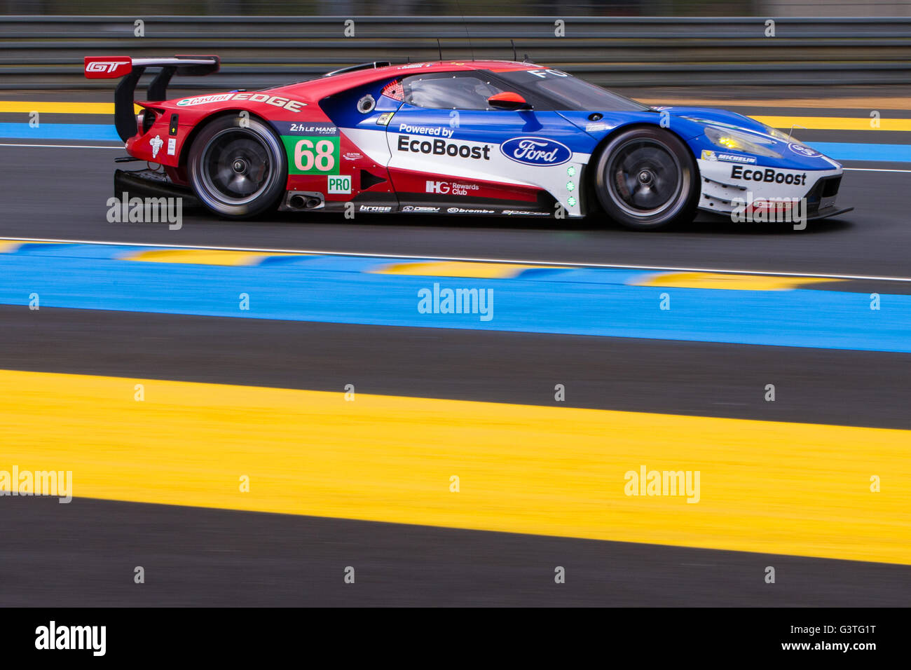 Le Mans  Hours Practice And Qualifying Ford Chip Ganassi Team Usa Ford Gt Lmgte Pro Driven By Joey Hand Dirk Muller And