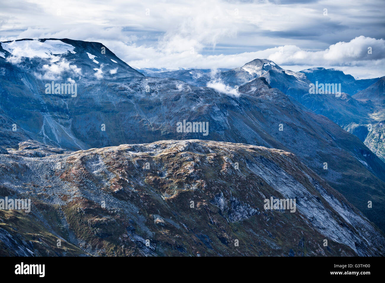 Norway, More og Romsdal, Sunnmore, View of mountainous landscape - Stock Image