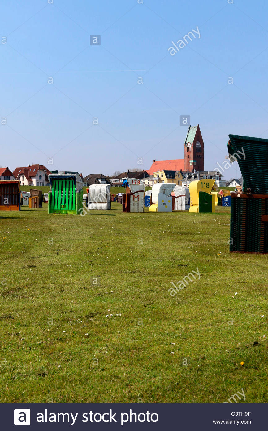 grimmershörner bucht, cuxhaven, cuxhaven district, lower saxony, germany, north sea - Stock Image
