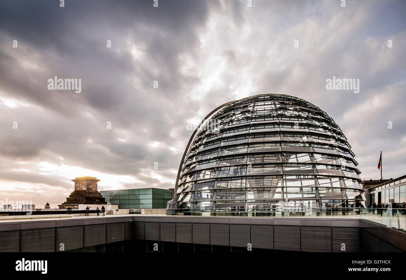 Germany, Berlin, Reichstag, View of Bundestag building - Stock Image