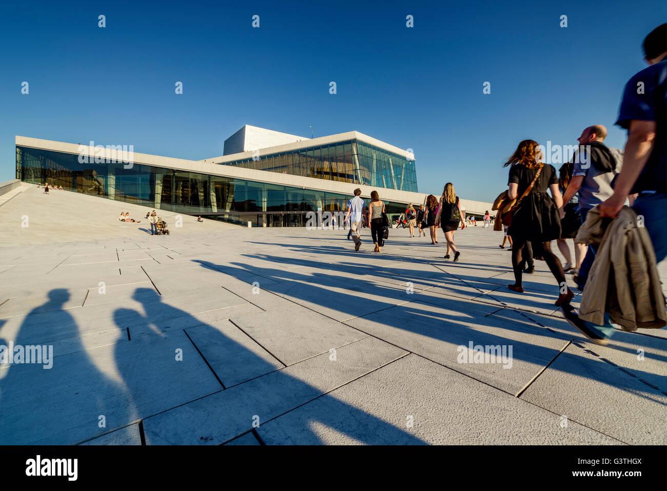 Norway, Oslo, Bjorvika, Operahuset - Stock Image