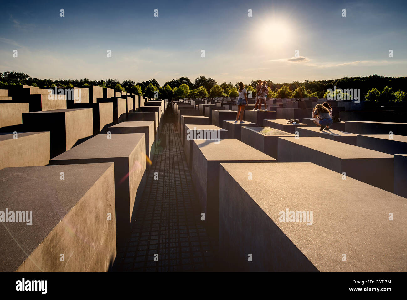 Monument For The Murdered Jews Of Europe Stock Photos