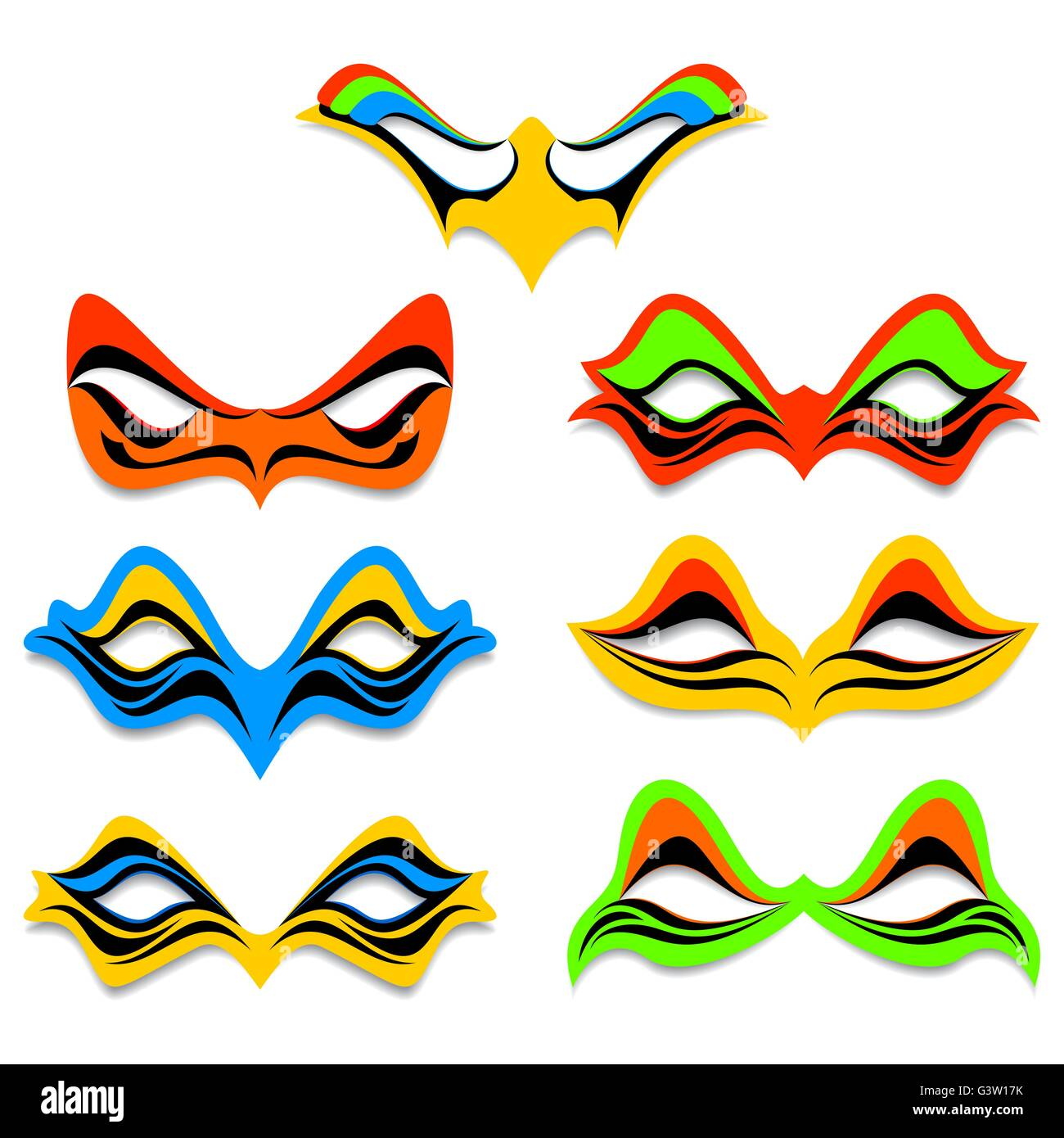 Different masks - Stock Vector