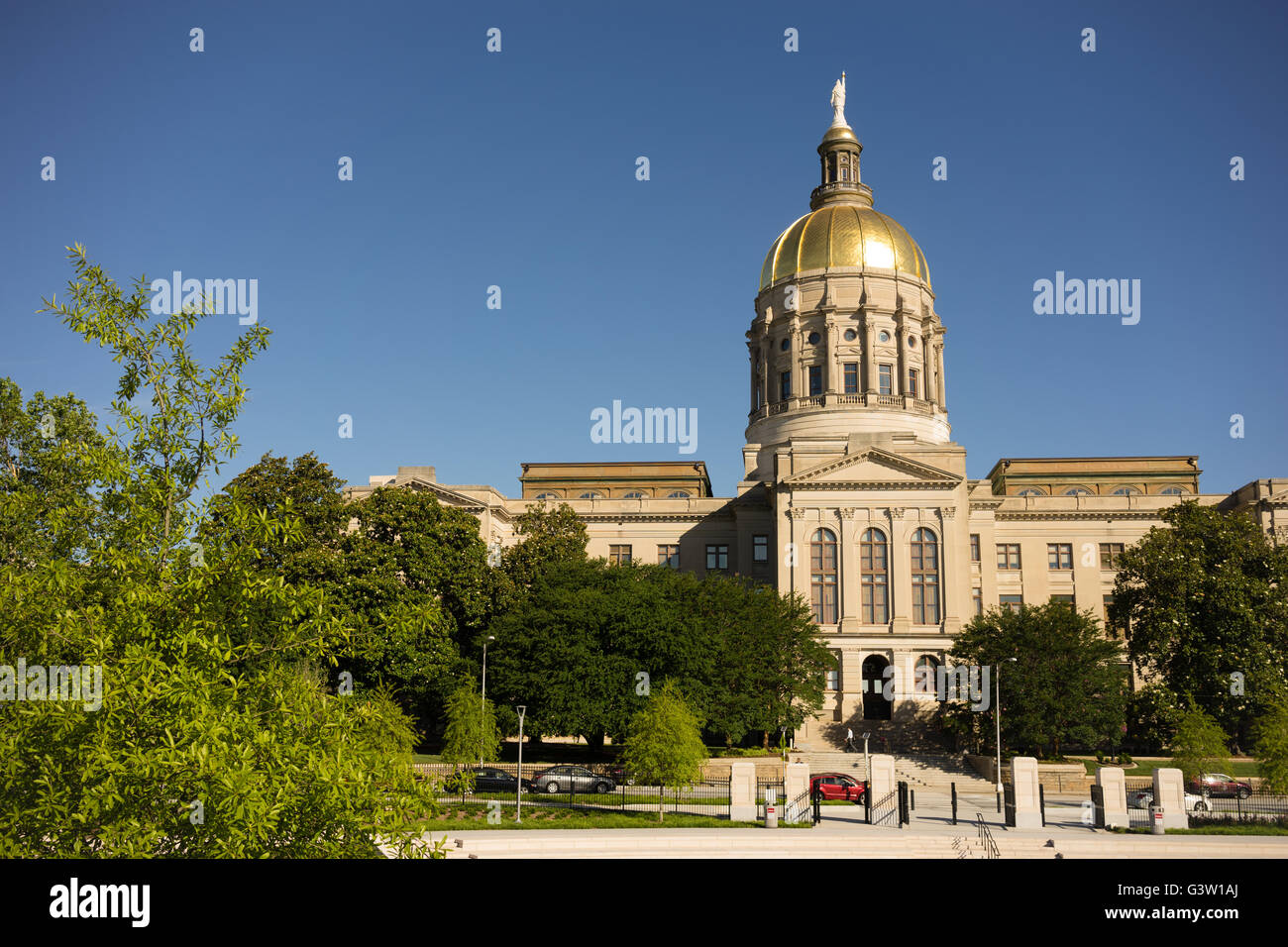 Atlanta Georgia State Capital Gold Dome City Architecture - Stock Image