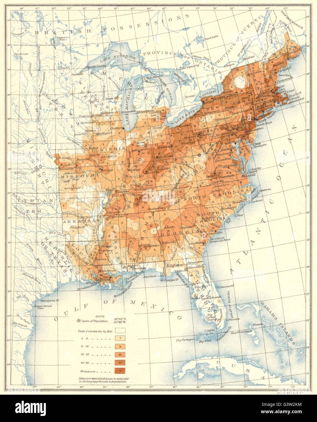 Population Map Usa Stock Photos Population Map Usa Stock Images