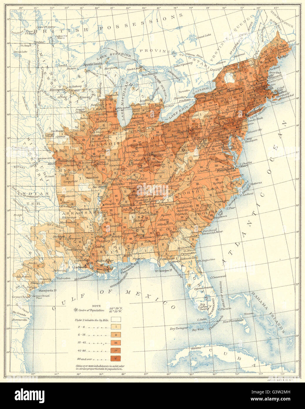 Map Of Usa 1850.Usa Population Distribution East Of The 100th Meridian 1850 1900