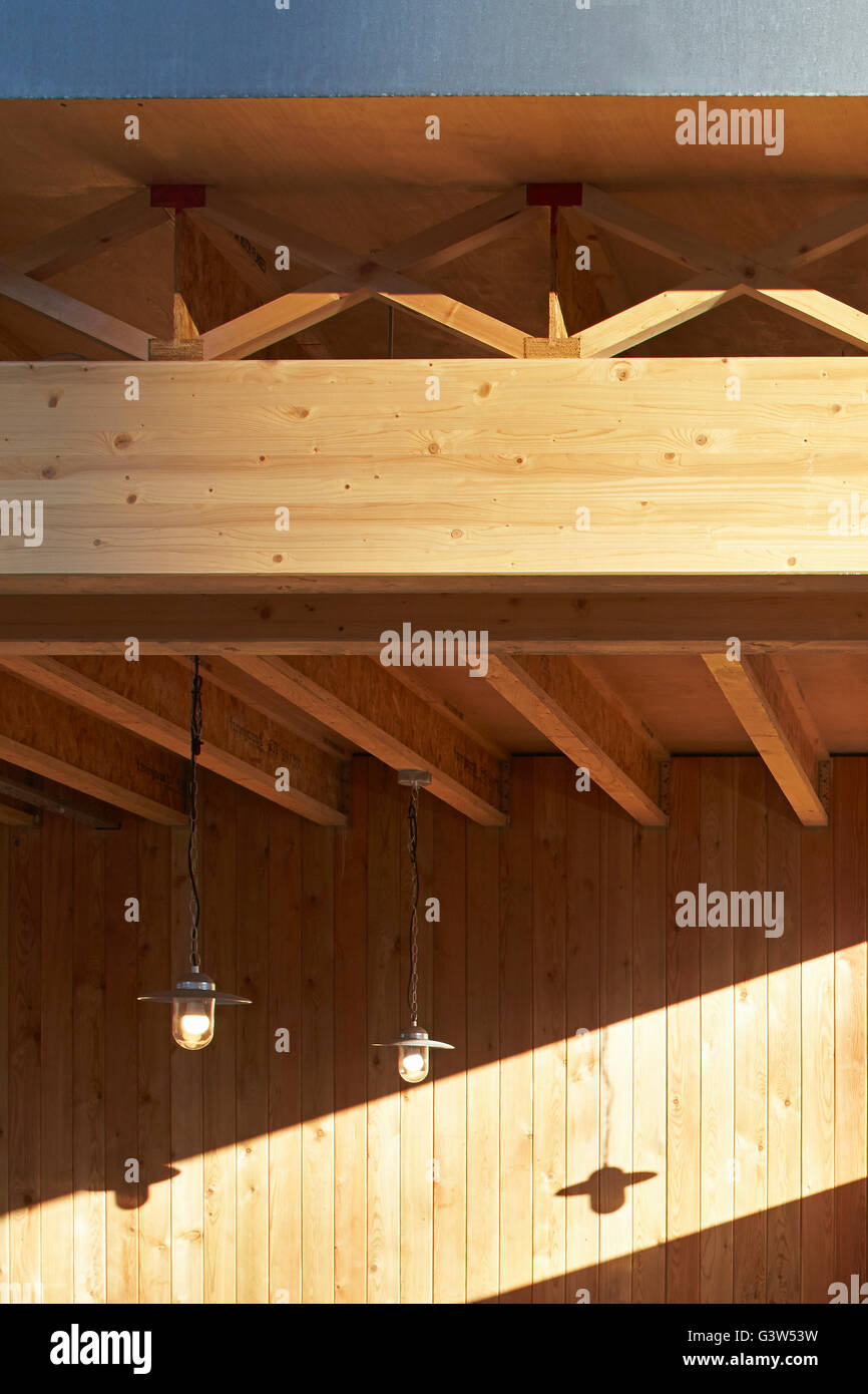 Exposed Timber Ceiling Of Entrance Canopy The Green Room
