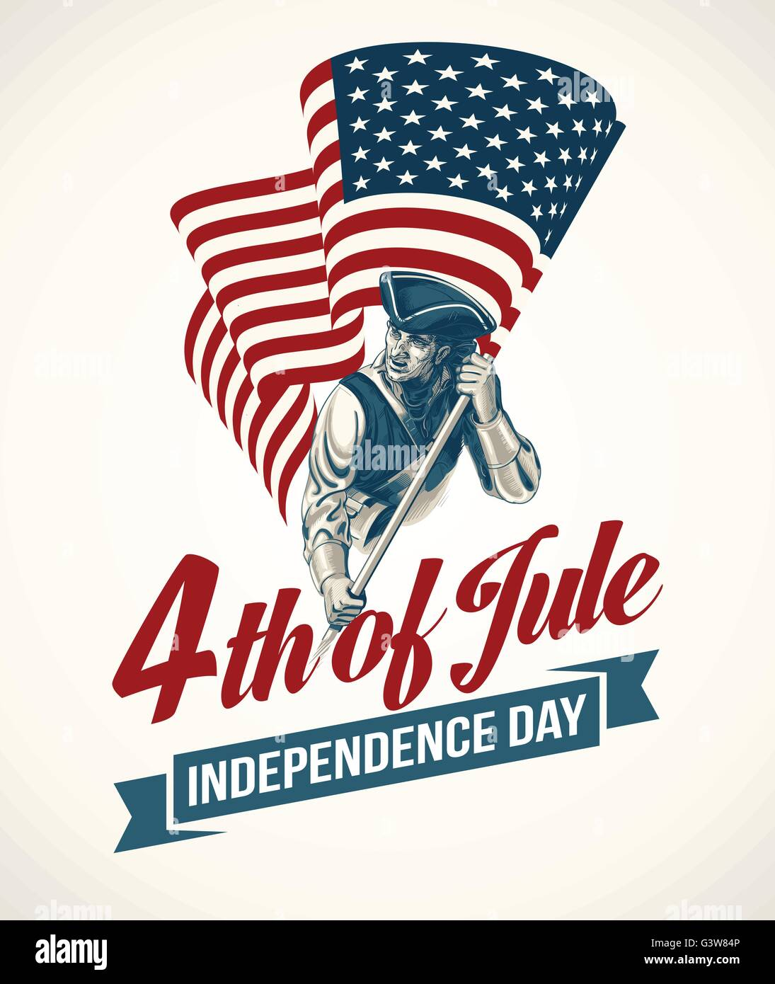 American independence day lettering design a template background american independence day lettering design a template background for greeting cards posters leaflets and brochure vector illustration m4hsunfo