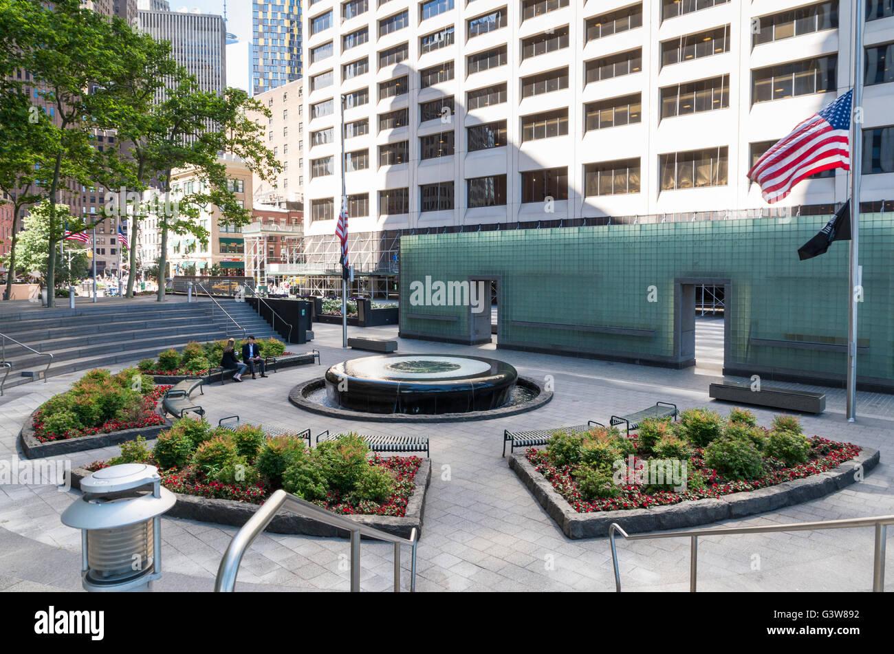 Vietnam Veteran's Memorial Plaza, New York - Stock Image