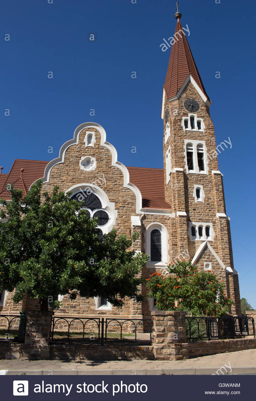 The Christ Church in Windhoek, Namibia - Stock Image