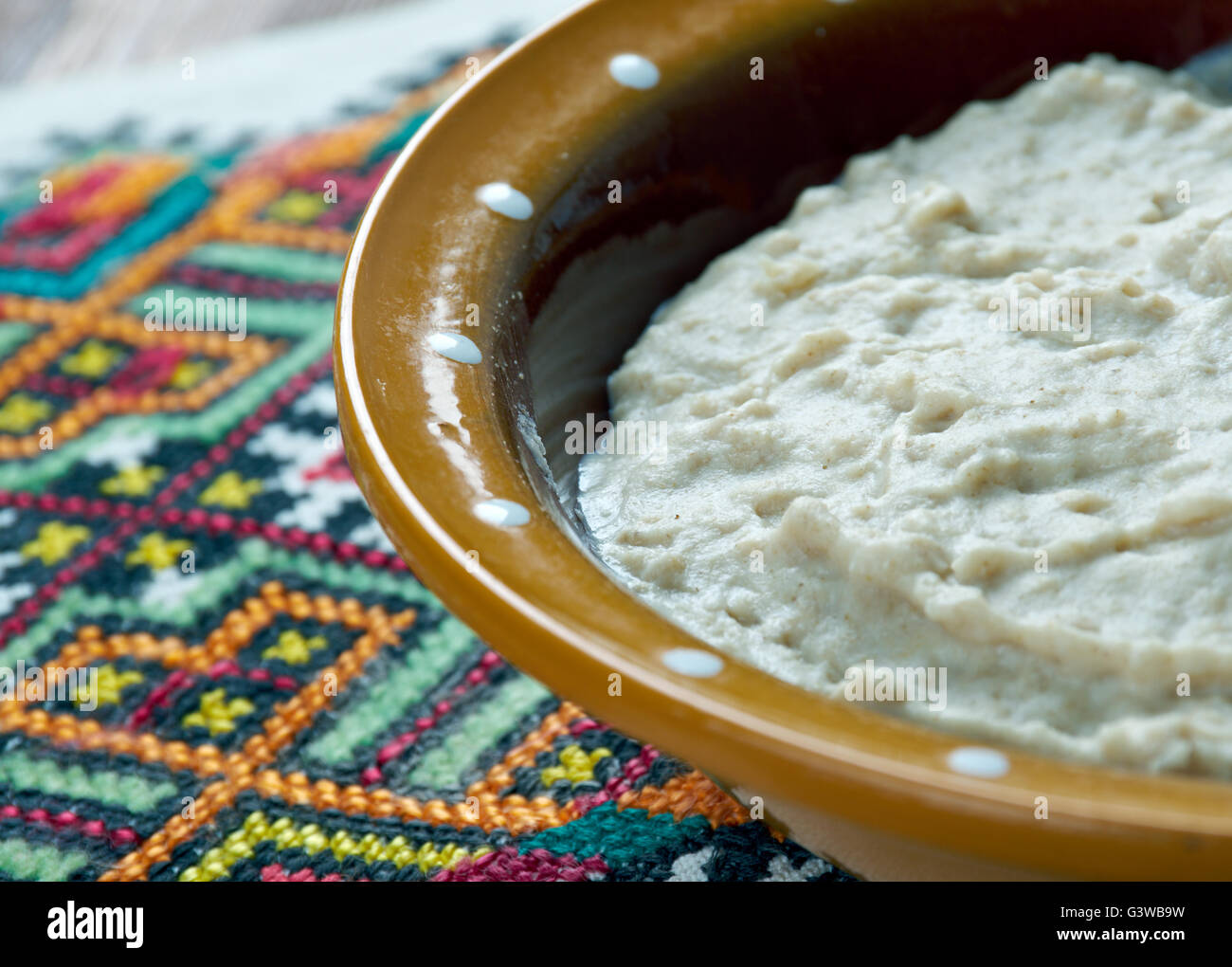 dezhen - Russian dish of oatmeal and spoiled milk - Stock Image