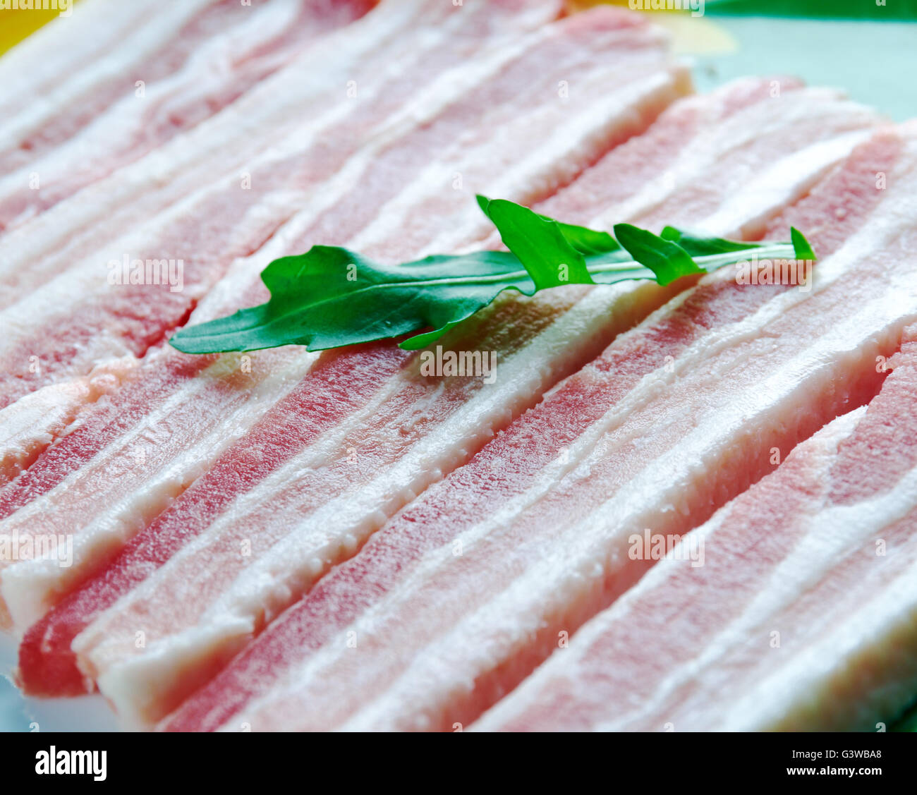 Ayrshire Bacon - Scottish traditional dish of pork Stock Photo