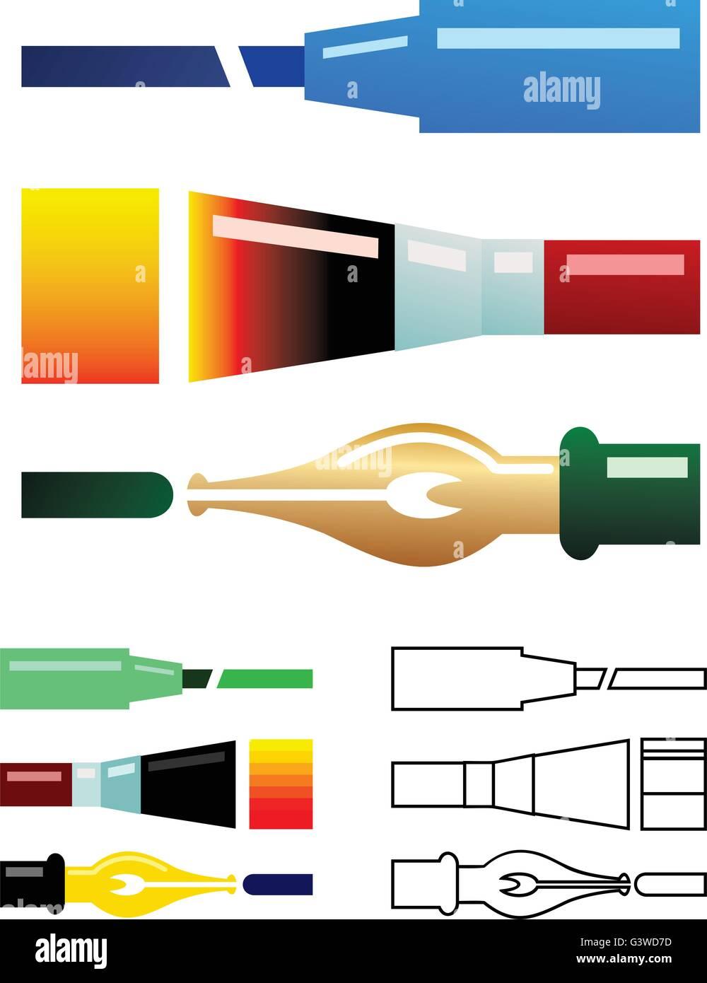 Artistic Media Stock Vector Image Art Alamy