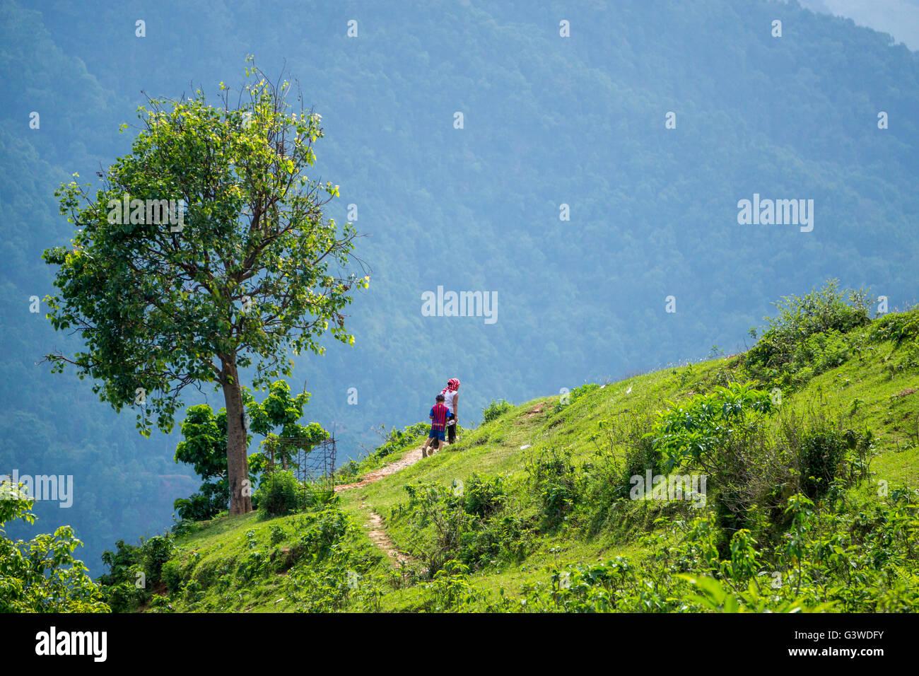 Wandering around in Pokhara Nepal - Stock Image