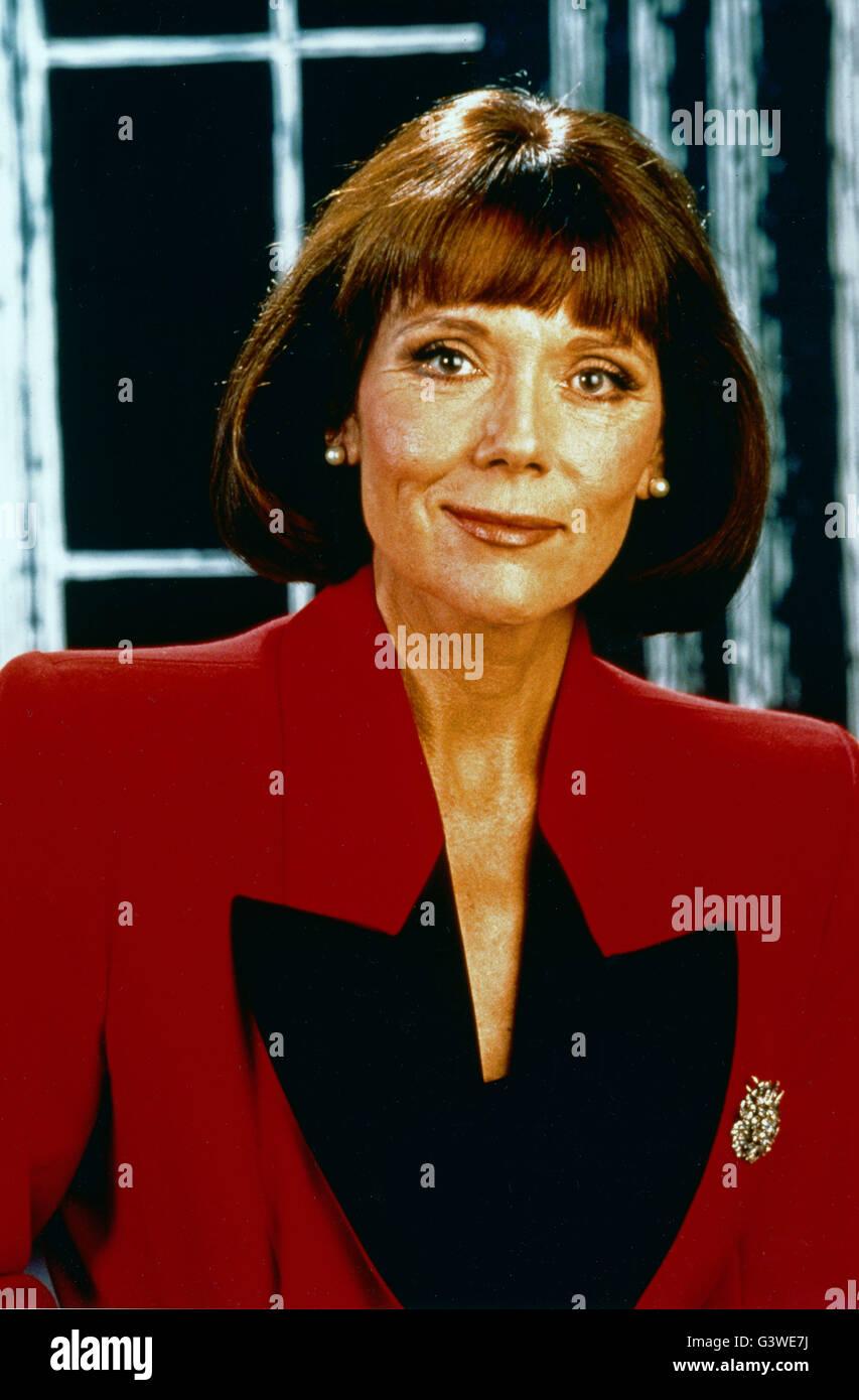 Die britische Schauspielerin Diana Rigg, 1980er Jahre. British actress Diana Rigg, 1980s. - Stock Image