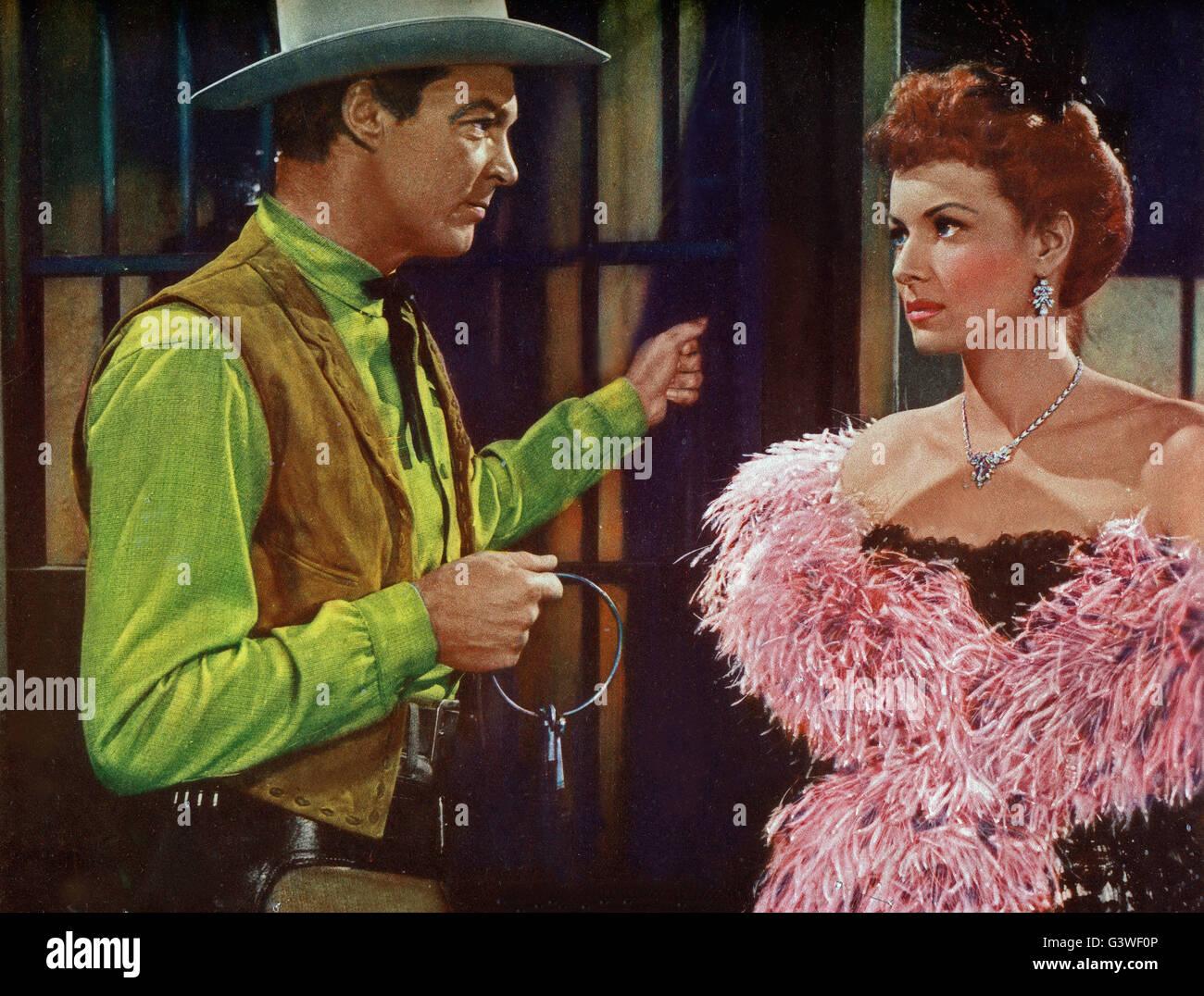 The Redhead From Wyoming, aka: Feuerkopf von Wyoming, USA 1952, Regie: Lee Sholem, Darsteller: Alex Nicol, Maureen - Stock Image