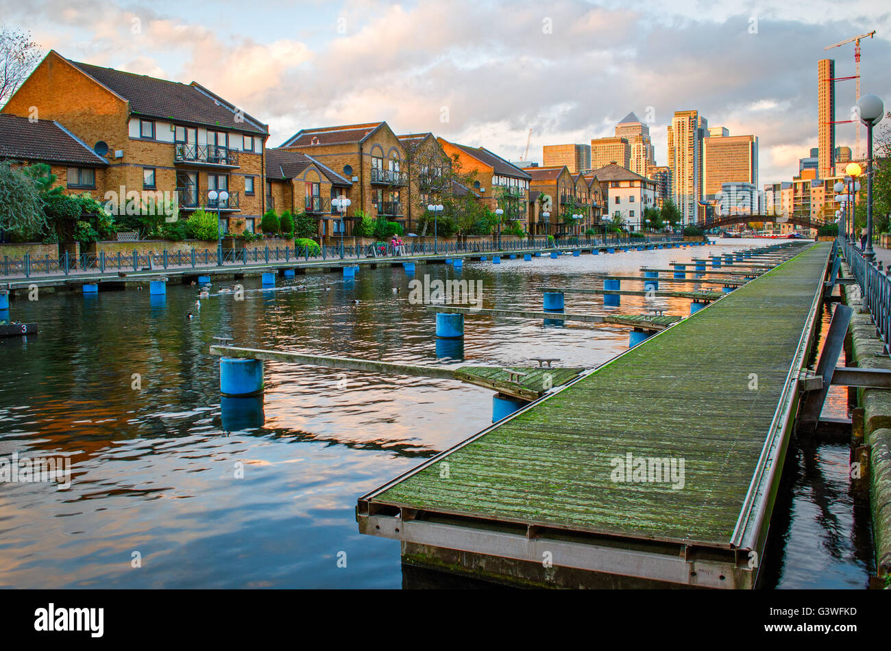 London, Isle of Dogs and Canary Wharf - Stock Image
