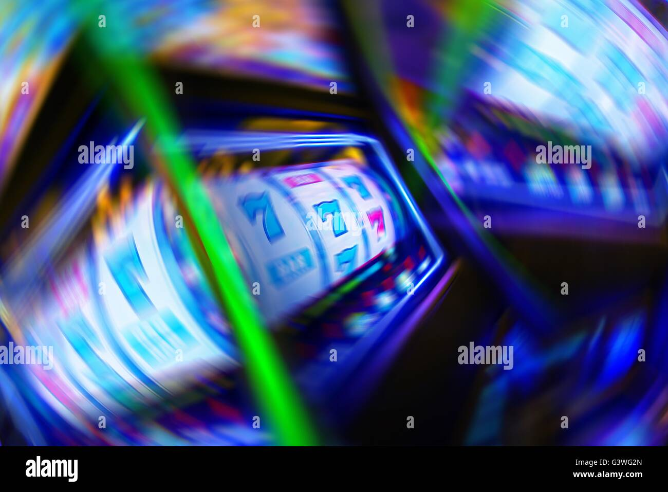 Casino Gambling Obsession Conceptual Illustration. - Stock Image