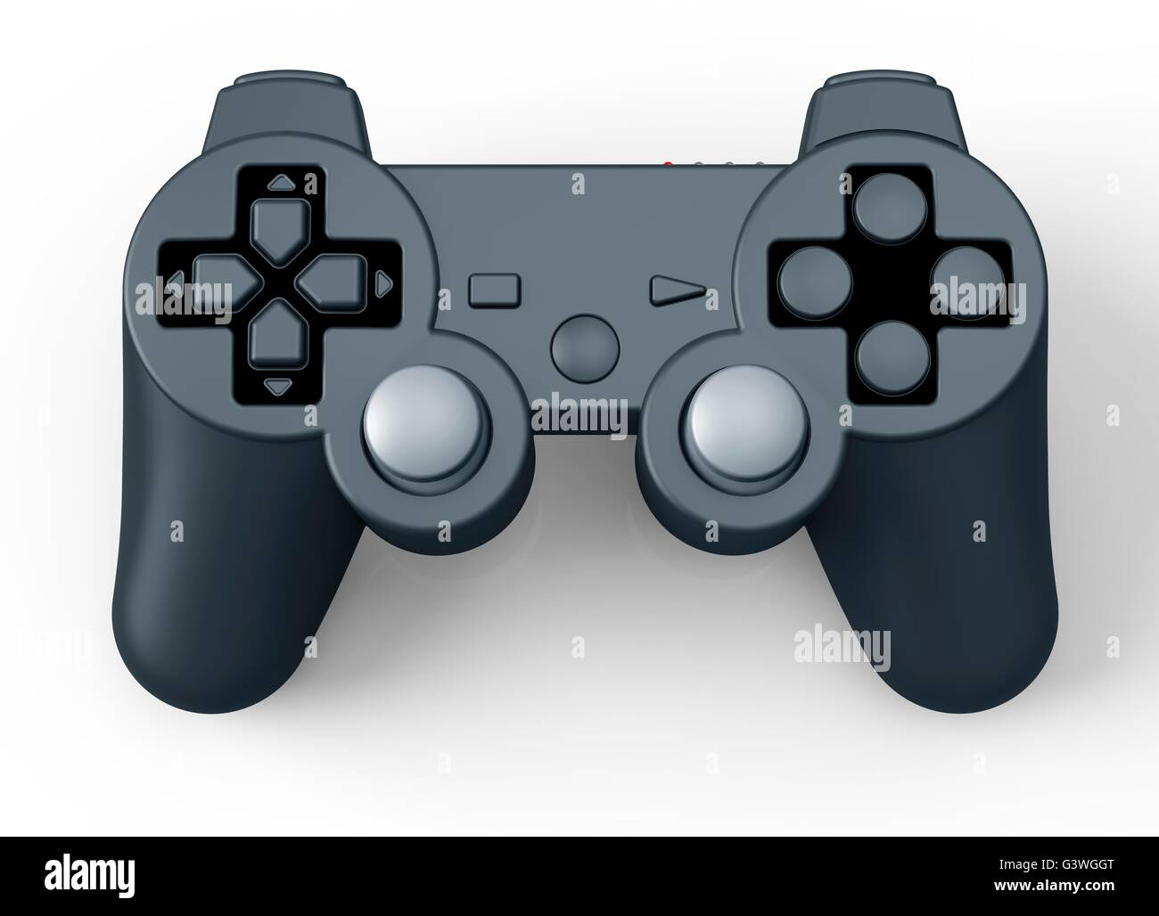 game controller for console isolated on white. - Stock Image