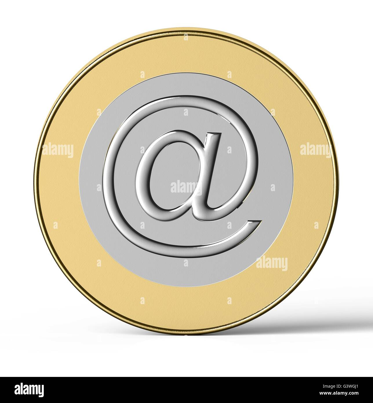 internet coin isolated on a white back ground Stock Photo