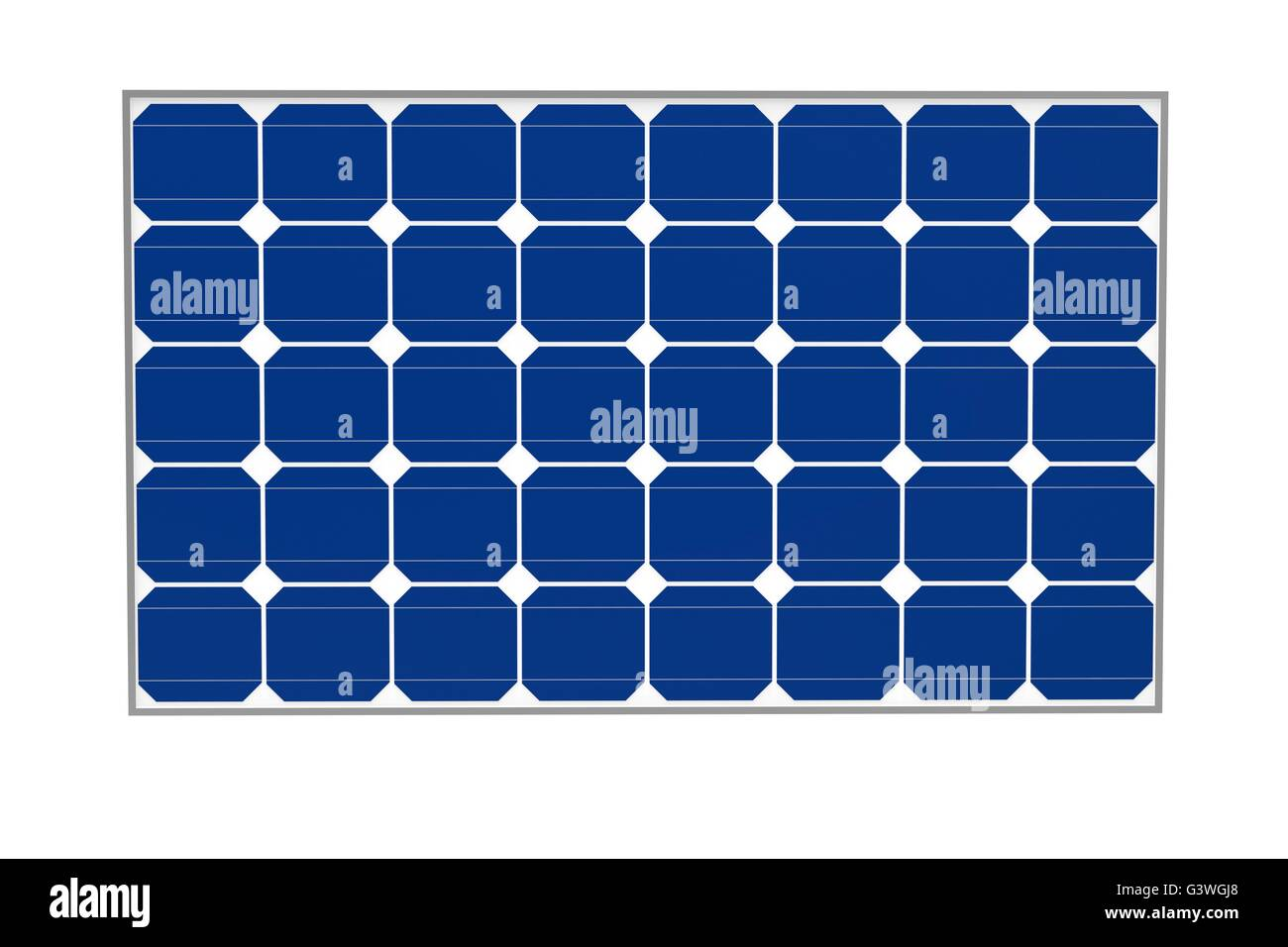 solar cells isolated on a white background. - Stock Image