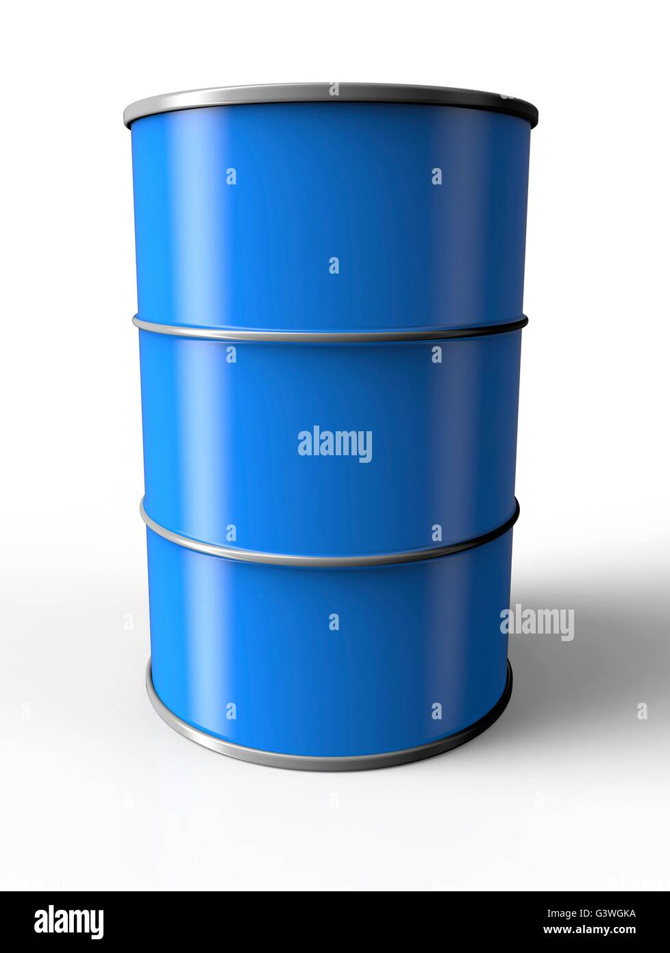Blue Oil Drum Isolated On A White Background   Stock Image