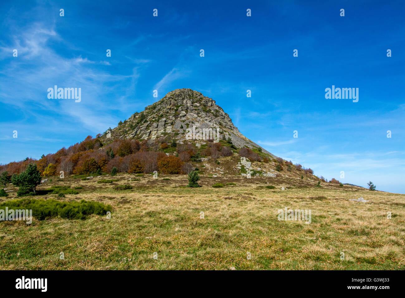 Mont Gerbier de Jonc, Massif of Mezenc, Ardeche, France - Stock Image