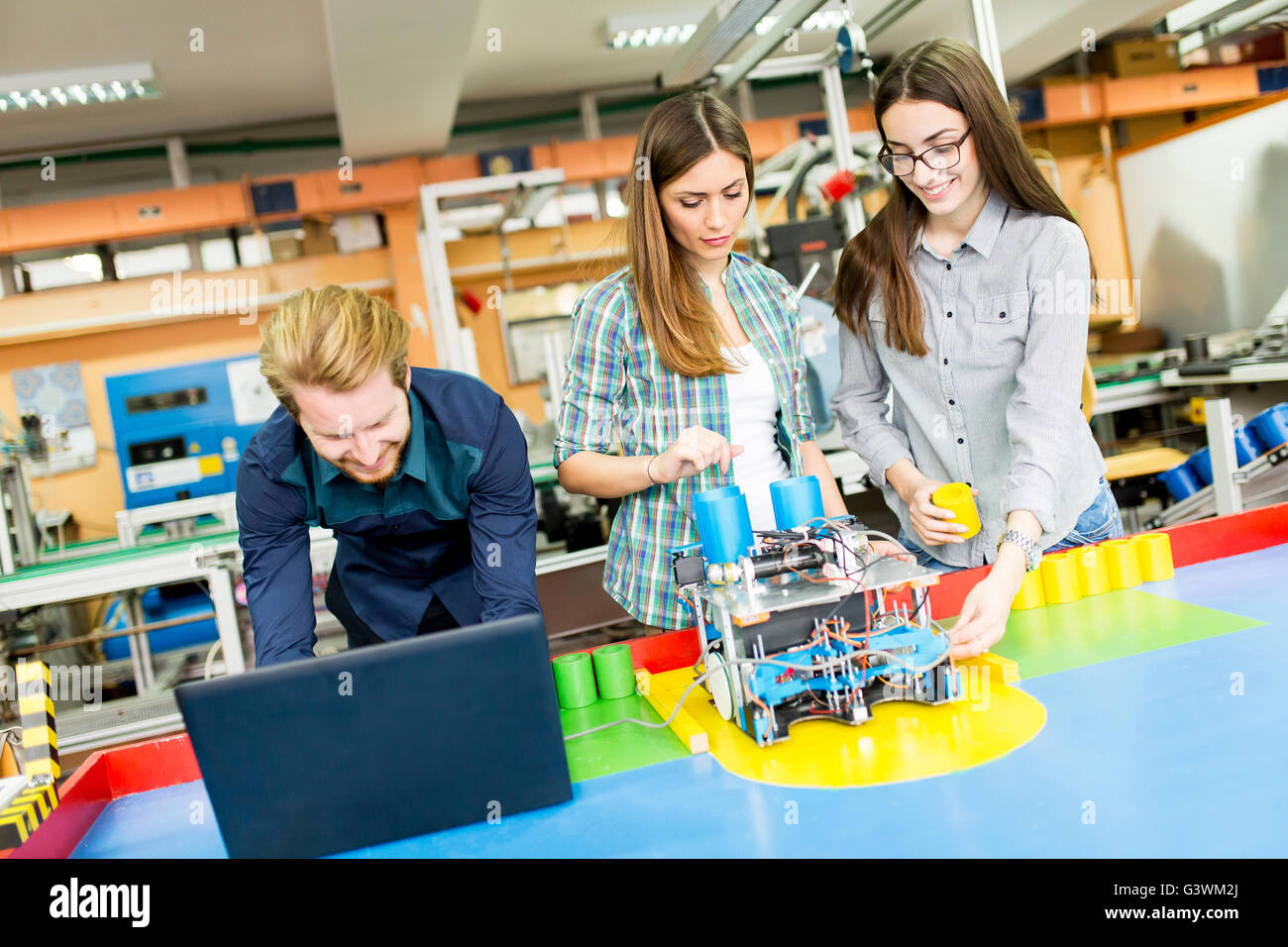Young People In The Robotics Classroom Stock Photo 105670730 Alamy