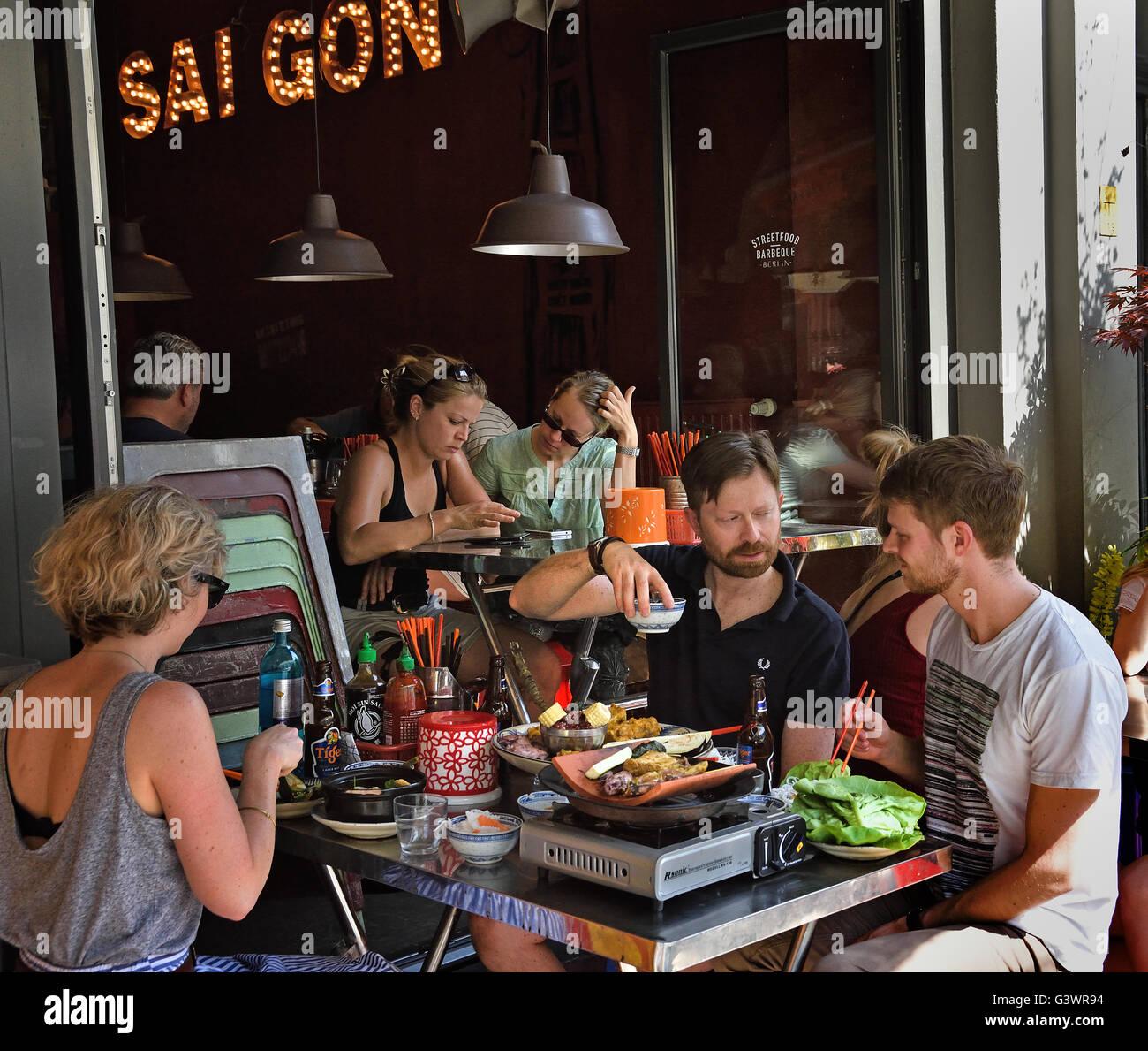 District Môt - Saigon Street Food Vietnamese Restaurant Mitte, Rosenthaler Strasse Berlin Germany Stock Photo