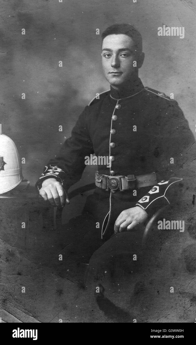 Royal Marine in dress uniform C. great war - Stock Image