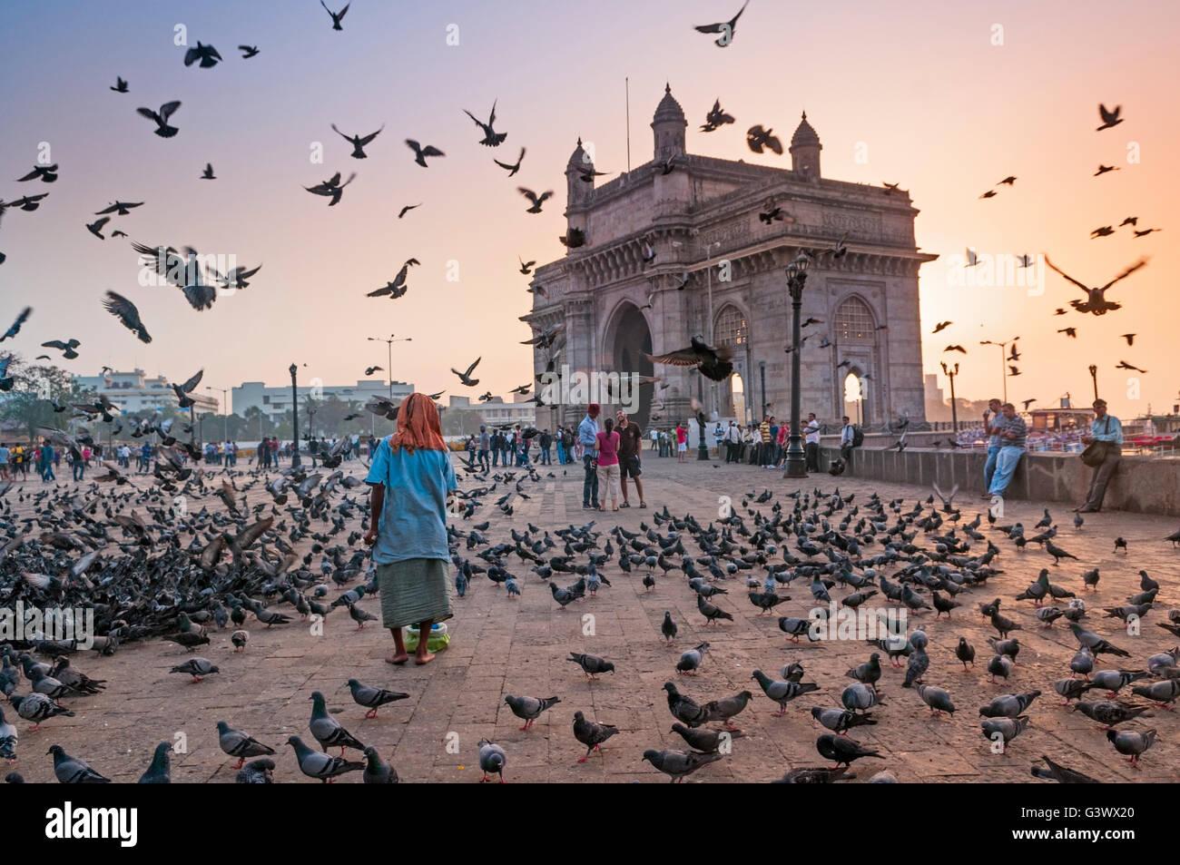 Gateway of India Mumbai Bombay India - Stock Image