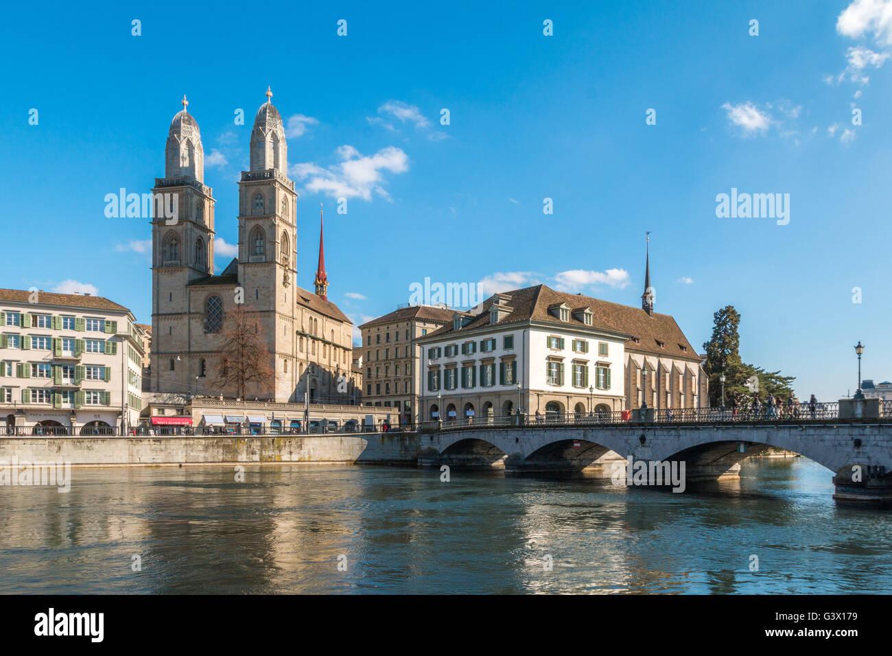 Church in Zurich Stock Photo