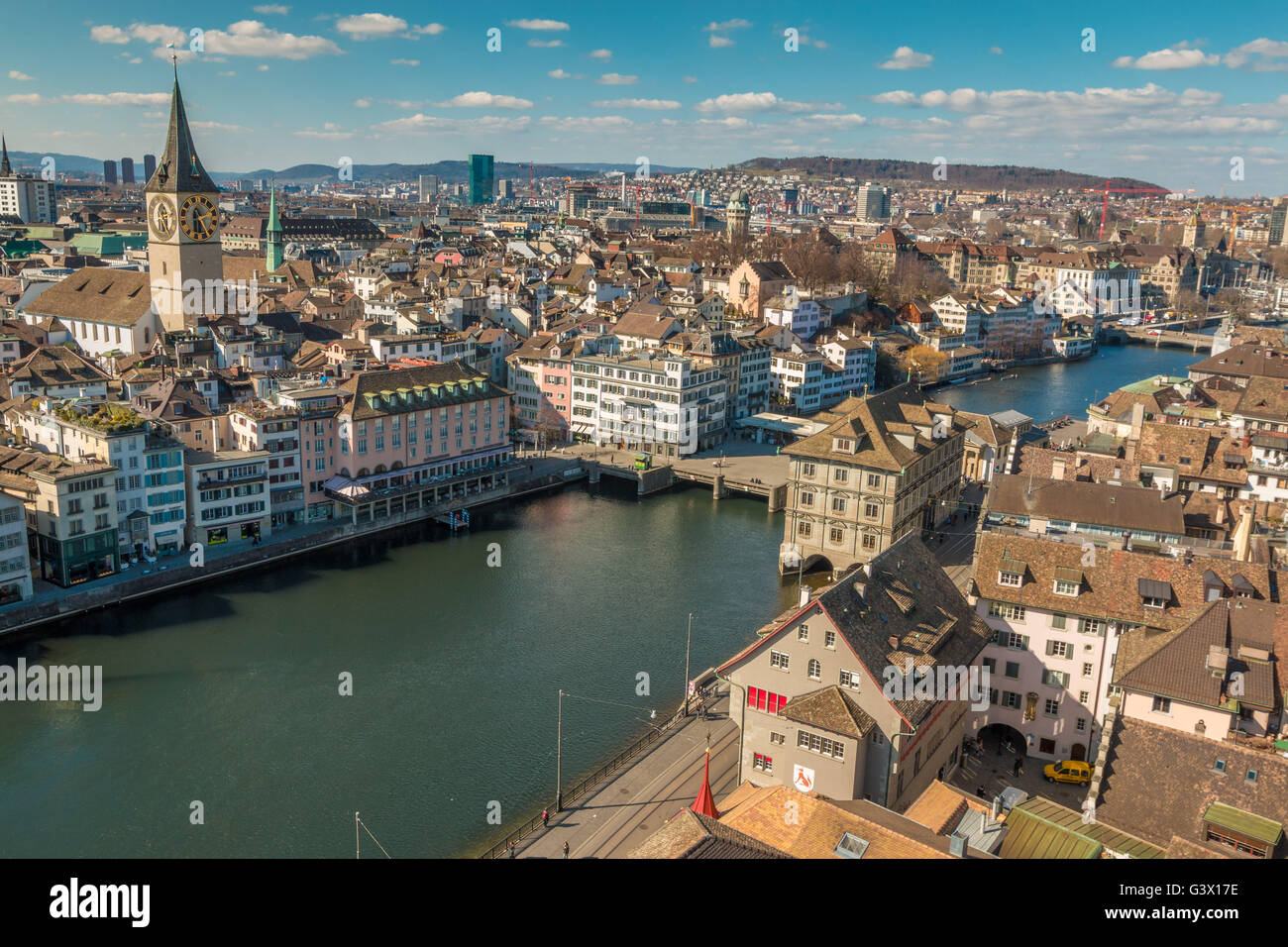 Panoramic view of Zurich - Stock Image