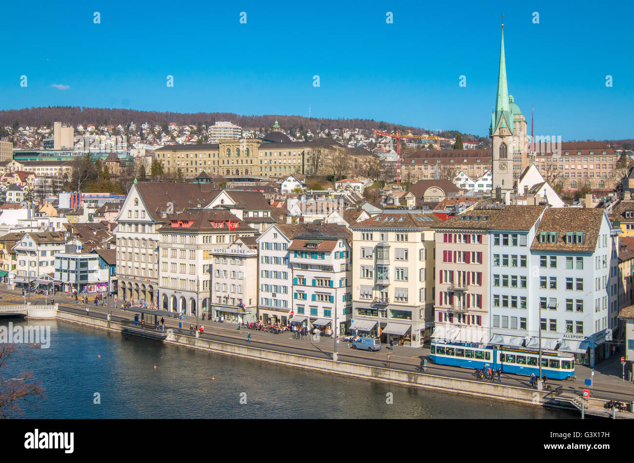 View of Zurich Switzerland - Stock Image