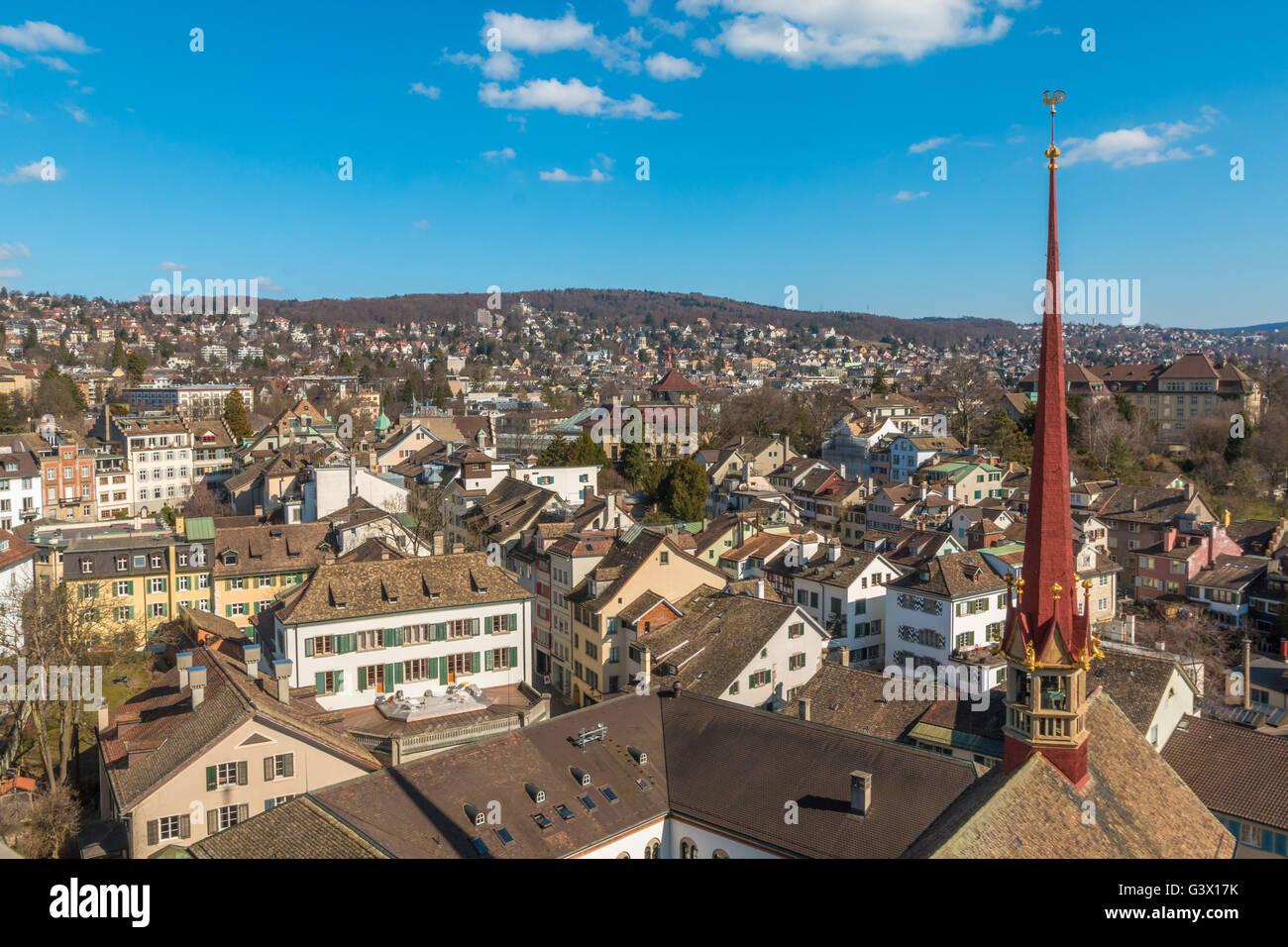 Zurich Skyline - Stock Image
