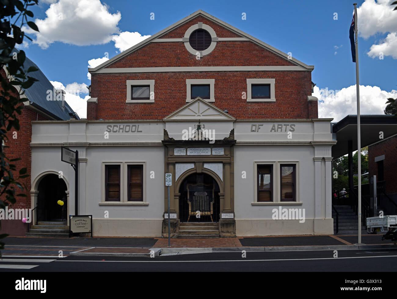 tenterfield school of arts historic building - Stock Image