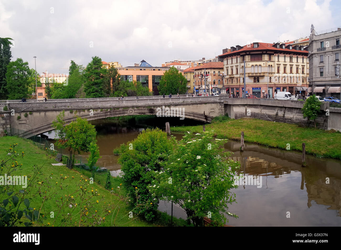 1227f7fa48 Padua, Italy. Corso Garibaldi street, the bridge on the Piovego river.