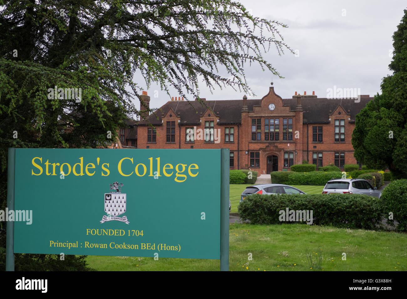 Strode's College in Egham in Surrey UK - Stock Image