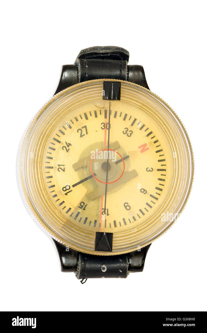 German WW2 army pilot airforce navigation wrist compass - Stock Image