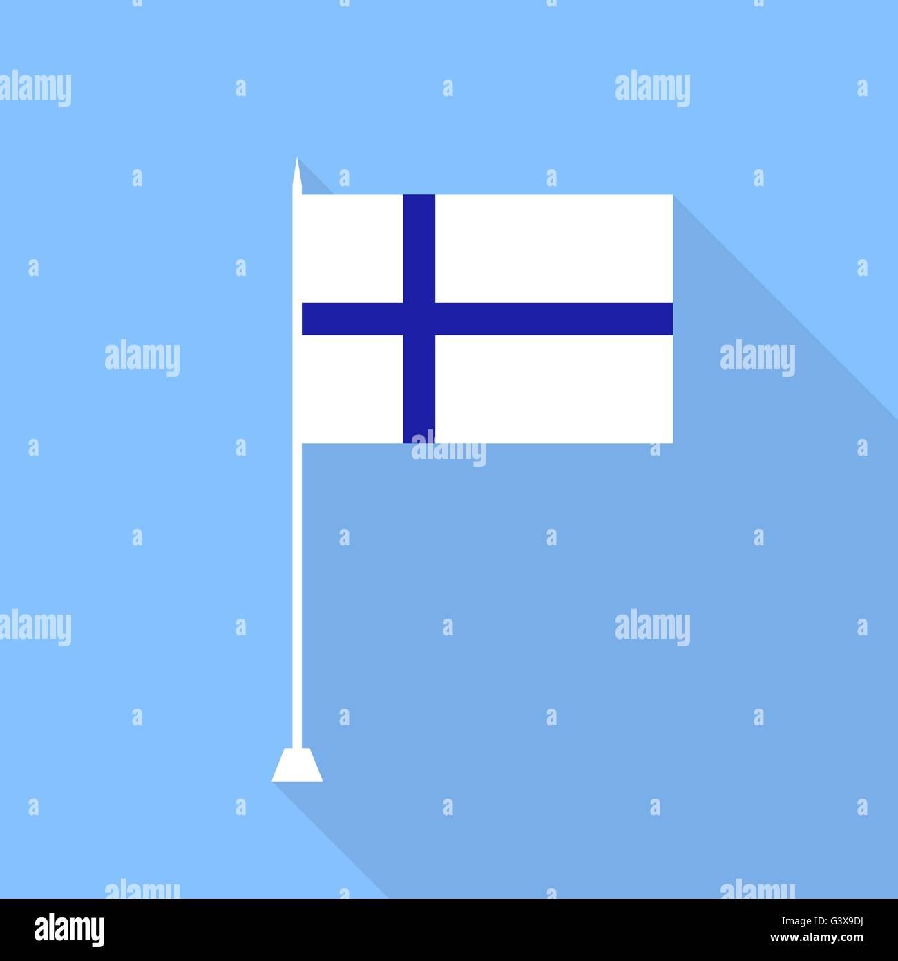 Flag of Finland. Vector illustration . - Stock Vector