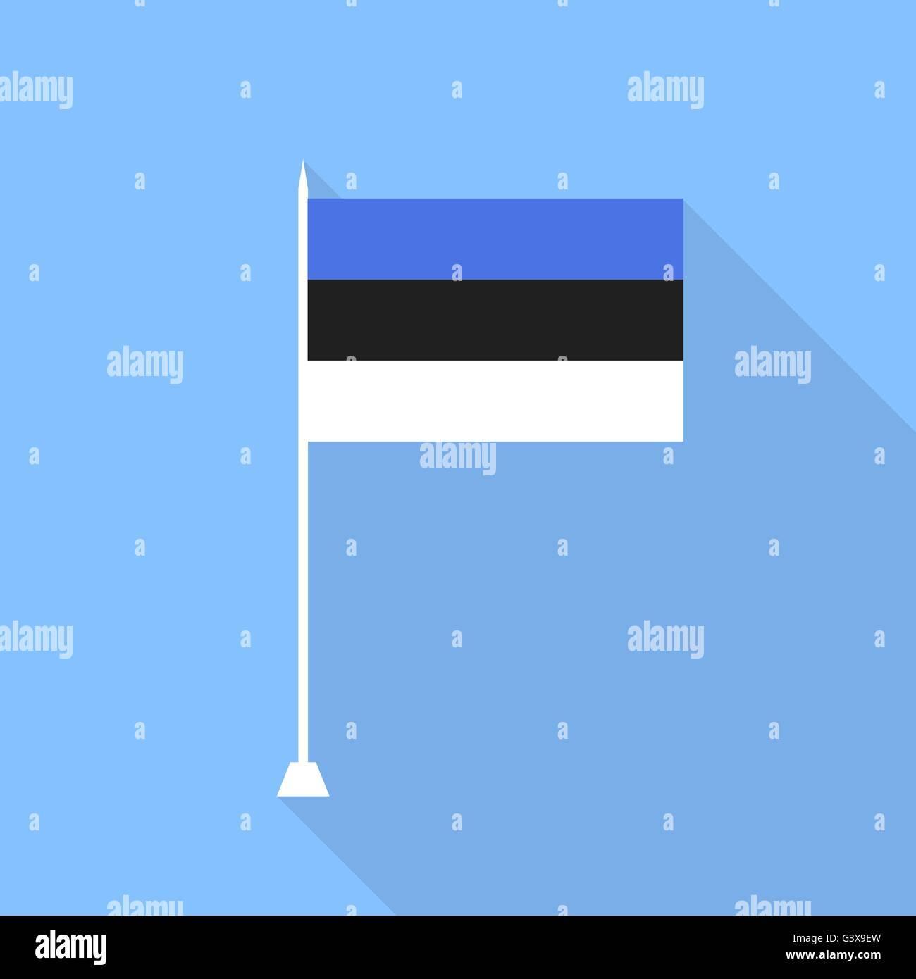 Estonian flag. Vector illustration . - Stock Vector