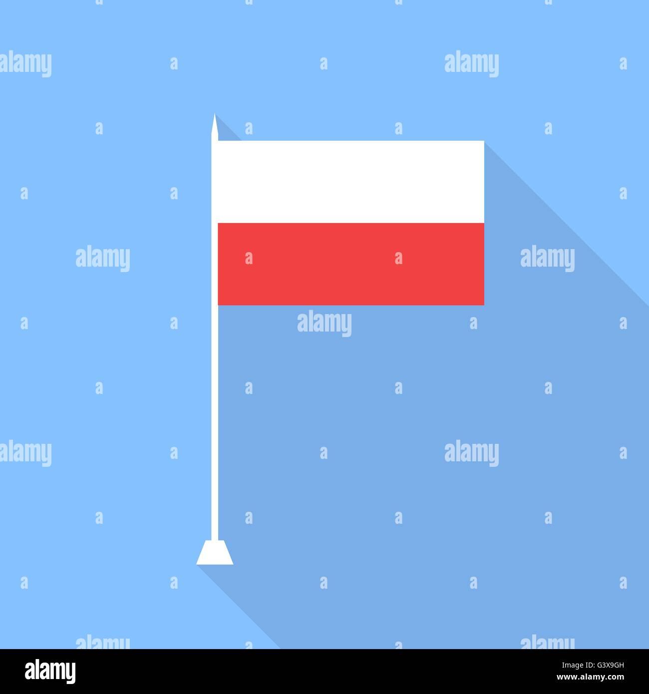 Flag of Poland. Vector illustration . - Stock Vector