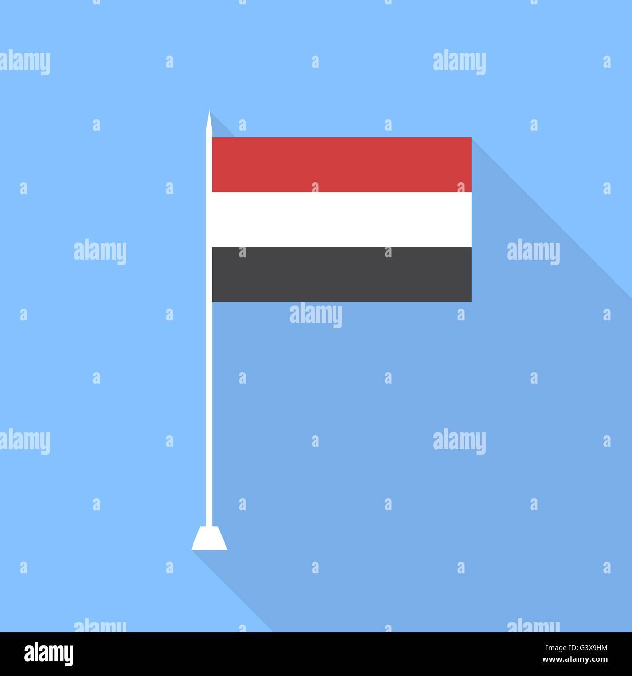 Flag of Yemen. Vector illustration . - Stock Vector