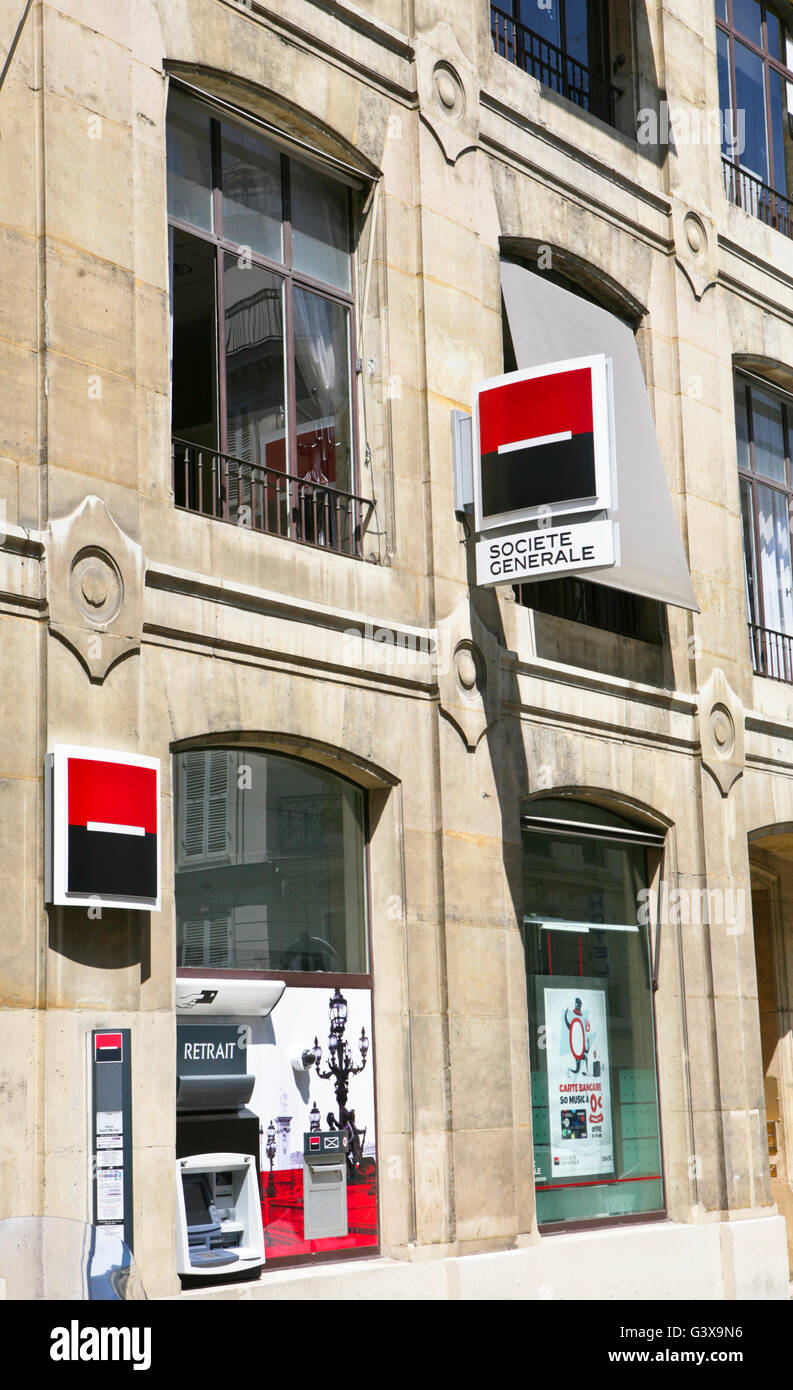 Bank Societe General, Paris, France - Stock Image